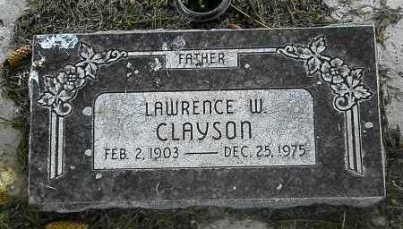 CLAYSON, LAWRENCE W - Utah County, Utah | LAWRENCE W CLAYSON - Utah Gravestone Photos