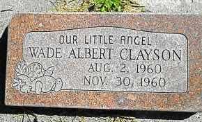 CLAYSON, WADE ALBERT - Utah County, Utah | WADE ALBERT CLAYSON - Utah Gravestone Photos