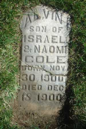 COLE, ALVIN ISRAEL - Utah County, Utah | ALVIN ISRAEL COLE - Utah Gravestone Photos