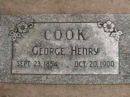 COOK, GEORGE HENRY - Utah County, Utah | GEORGE HENRY COOK - Utah Gravestone Photos