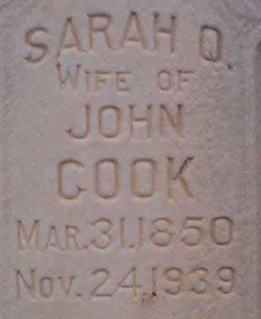 COOK, SARAH - Utah County, Utah   SARAH COOK - Utah Gravestone Photos