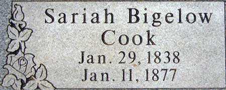 BIGELOW COOK, SARIAH - Utah County, Utah | SARIAH BIGELOW COOK - Utah Gravestone Photos