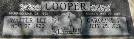 COOPER, CAROLINE F. - Utah County, Utah | CAROLINE F. COOPER - Utah Gravestone Photos