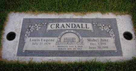 CRANDALL, LOUIS EUGENE - Utah County, Utah | LOUIS EUGENE CRANDALL - Utah Gravestone Photos