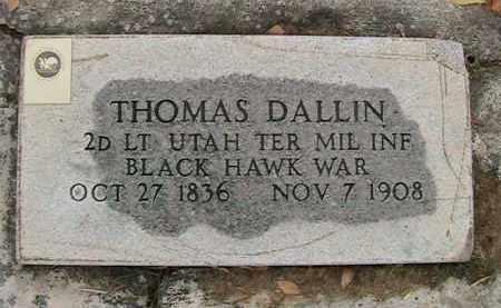 DALLIN (IW), THOMAS - Utah County, Utah | THOMAS DALLIN (IW) - Utah Gravestone Photos