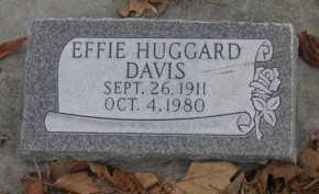 HUGGARD DAVIS, EFFIE MARIE - Utah County, Utah   EFFIE MARIE HUGGARD DAVIS - Utah Gravestone Photos