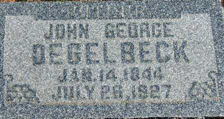 DEGELBECK, JOHN GEORGE - Utah County, Utah | JOHN GEORGE DEGELBECK - Utah Gravestone Photos