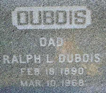 DUBOIS, RALPH LIVINGSTON - Utah County, Utah | RALPH LIVINGSTON DUBOIS - Utah Gravestone Photos