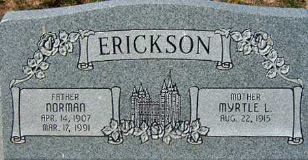 ERICKSON, MYRTLE L. - Utah County, Utah | MYRTLE L. ERICKSON - Utah Gravestone Photos