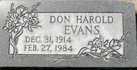 EVANS, DON HAROLD - Utah County, Utah   DON HAROLD EVANS - Utah Gravestone Photos