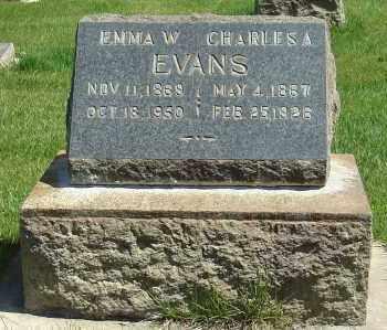 EVANS, EMMA - Utah County, Utah   EMMA EVANS - Utah Gravestone Photos