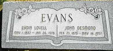EVANS, JOHN DESMOND - Utah County, Utah | JOHN DESMOND EVANS - Utah Gravestone Photos