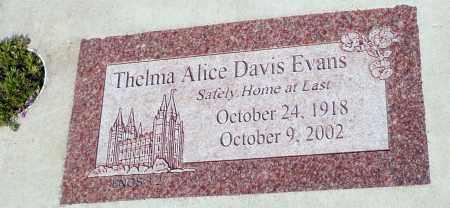 EVANS, THELMA ALICE - Utah County, Utah | THELMA ALICE EVANS - Utah Gravestone Photos