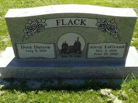 FLACK, DORA DUTSON - Utah County, Utah | DORA DUTSON FLACK - Utah Gravestone Photos