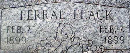 FLACK, FERRAL - Utah County, Utah | FERRAL FLACK - Utah Gravestone Photos