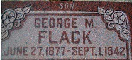 FLACK, GEORGE MADISON - Utah County, Utah | GEORGE MADISON FLACK - Utah Gravestone Photos