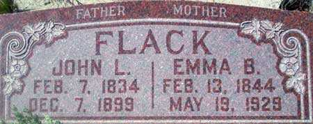 FLACK, EMMA - Utah County, Utah   EMMA FLACK - Utah Gravestone Photos
