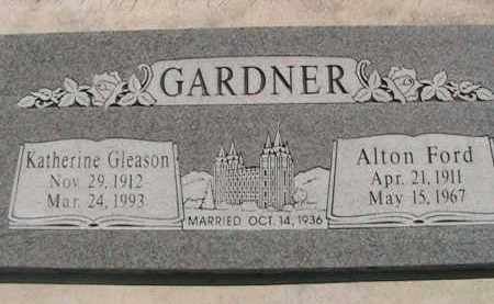 GLEASON GARDNER, KATHERINE IDA - Utah County, Utah   KATHERINE IDA GLEASON GARDNER - Utah Gravestone Photos