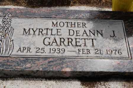 JOHNSON GARRETT, MYRTLE DEANN - Utah County, Utah | MYRTLE DEANN JOHNSON GARRETT - Utah Gravestone Photos