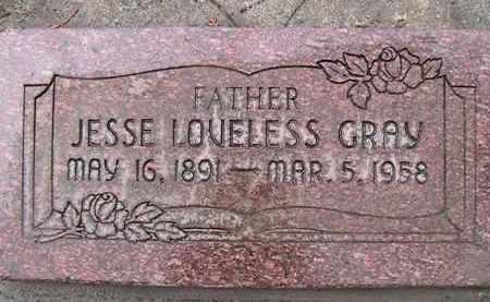 GRAY, JESSE LOVELESS - Utah County, Utah | JESSE LOVELESS GRAY - Utah Gravestone Photos