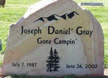 GRAY, JOSEPH DANIEL - Utah County, Utah | JOSEPH DANIEL GRAY - Utah Gravestone Photos