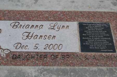 HANSEN, BRIANNA LYNN - Utah County, Utah | BRIANNA LYNN HANSEN - Utah Gravestone Photos