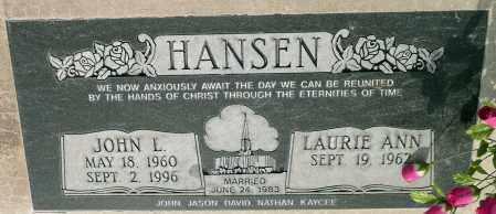 HANSEN, LAURIE ANN - Utah County, Utah | LAURIE ANN HANSEN - Utah Gravestone Photos