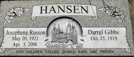 HANSEN, DARREL GIBBS - Utah County, Utah   DARREL GIBBS HANSEN - Utah Gravestone Photos