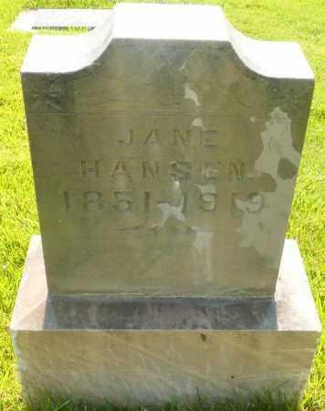 HANSEN, JANE - Utah County, Utah | JANE HANSEN - Utah Gravestone Photos