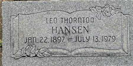 HANSEN, LEO THORNTON - Utah County, Utah   LEO THORNTON HANSEN - Utah Gravestone Photos
