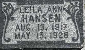 HANSEN, LEILA ANN - Utah County, Utah | LEILA ANN HANSEN - Utah Gravestone Photos