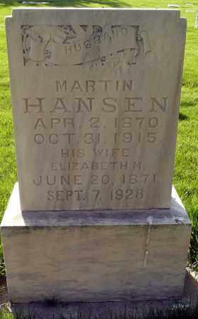 HANSEN, ELIZABETH - Utah County, Utah | ELIZABETH HANSEN - Utah Gravestone Photos