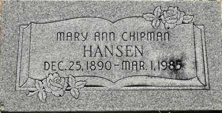 HANSEN, MARY ANN - Utah County, Utah | MARY ANN HANSEN - Utah Gravestone Photos