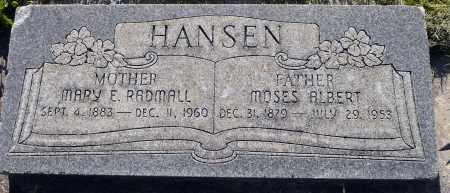 HANSEN, MOSES ALBERT - Utah County, Utah   MOSES ALBERT HANSEN - Utah Gravestone Photos