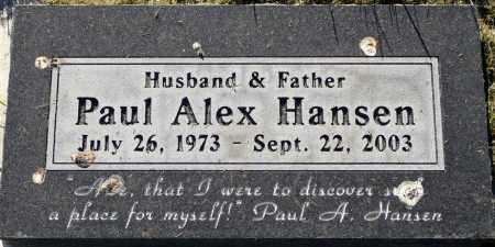 HANSEN, PAUL ALEX - Utah County, Utah | PAUL ALEX HANSEN - Utah Gravestone Photos