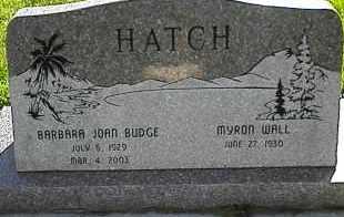 HATCH, MYRON WALL - Utah County, Utah | MYRON WALL HATCH - Utah Gravestone Photos