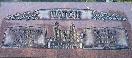 HATCH, ORIAN EARL - Utah County, Utah | ORIAN EARL HATCH - Utah Gravestone Photos
