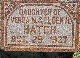 HATCH, DAUGHTER - Utah County, Utah | DAUGHTER HATCH - Utah Gravestone Photos