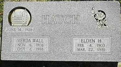 HATCH, ELDEN H. - Utah County, Utah | ELDEN H. HATCH - Utah Gravestone Photos