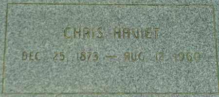 HAVIET, CHRIS - Utah County, Utah | CHRIS HAVIET - Utah Gravestone Photos
