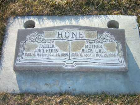 WALL HONE, ALICE - Utah County, Utah   ALICE WALL HONE - Utah Gravestone Photos