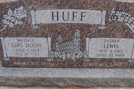 NOON HUFF, LOIS EDDA - Utah County, Utah | LOIS EDDA NOON HUFF - Utah Gravestone Photos