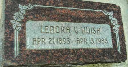 HUISH, LENORA V. - Utah County, Utah | LENORA V. HUISH - Utah Gravestone Photos