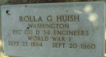 HUISH, ROLLA G. - Utah County, Utah | ROLLA G. HUISH - Utah Gravestone Photos