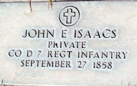 ISAACS (SERV), JOHN E. - Utah County, Utah | JOHN E. ISAACS (SERV) - Utah Gravestone Photos