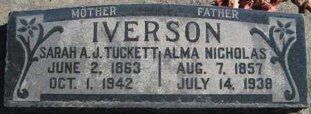 IVERSON, ALMA NICHOLAS - Utah County, Utah | ALMA NICHOLAS IVERSON - Utah Gravestone Photos