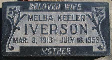 IVERSON, MELBA - Utah County, Utah   MELBA IVERSON - Utah Gravestone Photos