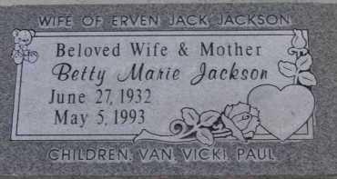 JACKSON, BETTY MARIE - Utah County, Utah   BETTY MARIE JACKSON - Utah Gravestone Photos