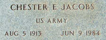 JACOBS (WWII), CHESTER EARL - Utah County, Utah   CHESTER EARL JACOBS (WWII) - Utah Gravestone Photos