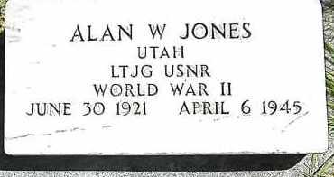 JONES, ALAN W. - Utah County, Utah   ALAN W. JONES - Utah Gravestone Photos